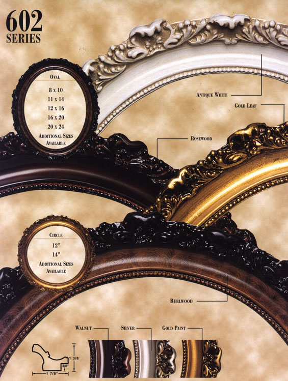 Oval picture frames old fashion photo frame Series 602