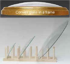 click here for Oval frames and glass samples