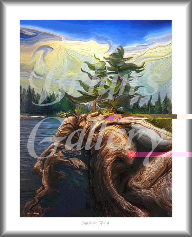 Digital Fine Art Painting Title Muskoka Twist