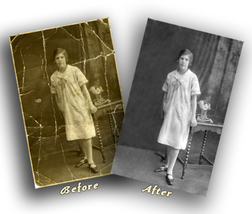 restore old family photos