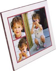 plaque mounting with multiple pictures