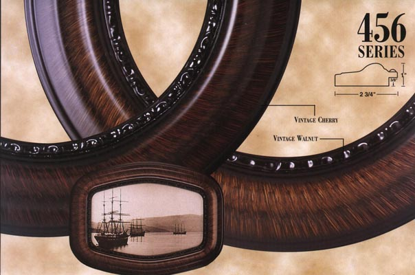 Oval Frames And Convex Glass Series 456 For Picture Framing