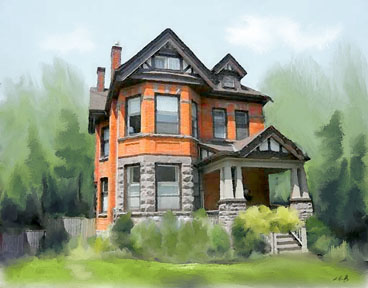House Paintings custom house portrait paintings of your home hamilton ontario