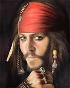 portrait painting of Johhnny Depp